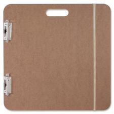 Saunders Recycled Hardboard Sketchboard - Heavy Duty - Hardboard - Brown - 1 Each