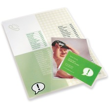 """Swingline Lamination Pouch - Sheet Size Supported: Letter 8.50"""" (215.90 mm) Width x 11"""" (279.40 mm) Length x 3 mil (0.08 mm) Thickness - Laminating Pouch/Sheet Size: 9.02"""" Width x 12.01"""" Length - Type G - Glossy - for Photo, Artwork, Schedule, Price List, Presentation, News Clipping - Self-sealing, Self-adhesive - Clear - 10 / Pack"""