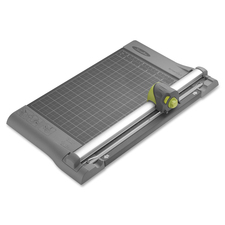 """Swingline Trimmer - 4 x Blade(s)Cuts 10Sheet - 12"""" (304.80 mm) Cutting Length - Straight, Wave, Perforated, Score Cutting - 4.40"""" (111.76 mm) Height x 12"""" (304.80 mm) Width x 19"""" (482.60 mm) Depth - Silver, Blue"""