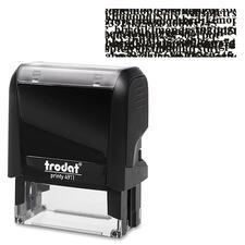 "Trodat Climate Neutral Self-Ink I.D. Protect Stamp - Message Stamp - 1.88"" (47.63 mm) Impression Width x 0.75"" (19.05 mm) Impression Length - Black - 1 Each"