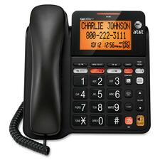 AT&T CL4940 Standard Phone - Black - 1 x Phone Line - Speakerphone - Answering Machine - Backlight