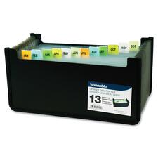 Winnable 13-Pocket Expand Desktop Cheque File - 13 Divider(s) - Poly - 1 Each