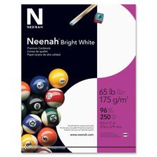 "Neenah Printable Multipurpose Card - Letter - 8 1/2"" x 11"" - 65 lb Basis Weight - Smooth - 96 Brightness - 250 / Pack - Bright White"
