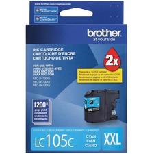 Brother Innobella LC105CS Original Ink Cartridge - Cyan - Inkjet - Super High Yield - 1200 Pages - 1 Each