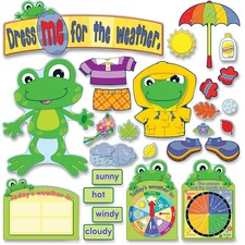 CDP 110208 Carson FUNky Frog Weather Bulletin Board Set CDP110208