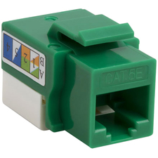4XEM Cat5e RJ45 Keystone Jack UTP 110-Type (Green)