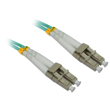 4XEM 3M AQUA Multimode LC To LC 50/125 Duplex Fiber Optic Patch Cable