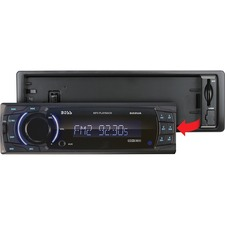 Boss Audio 622UA Single-DIN MECH-LESS Receiver, Detachable Front Panel, Wireless Remote