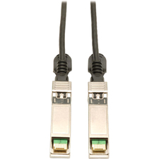 Tripp Lite SFP+ 10Gbase-CU Passive Twinax Copper Cable, Black 1M (3-ft.)