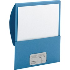 """Smead Organized Up Letter Recycled Organizer Folder - 8 1/2"""" x 11"""" - 100 Sheet Capacity - Blue - 10 / Pack"""