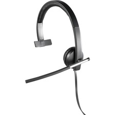 Logitech USB Headset Mono H650e - Mono - USB - Wired - 50 Hz - 10 kHz - Over-the-head - Monaural - Supra-aural - Noise Cancelling Microphone
