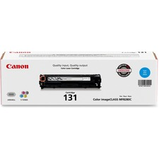 Canon 131 Original Toner Cartridge - Laser - 1500 Pages - Cyan - 1 Each