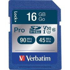 VER 98046 Verbatim Pro 600X SDHC UHS-1 Memory Card VER98046