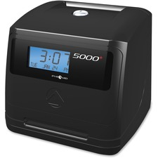 Pyramid Time Systems 5000 Automatic Time Clock - Card Punch/Stamp - 100 Employees - Week, Bi-weekly, Semi-monthly, Month Record Time
