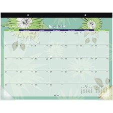 AAG 5035A AT-A-GLANCE Paper Flowers Academic Desk Pad AAG5035A