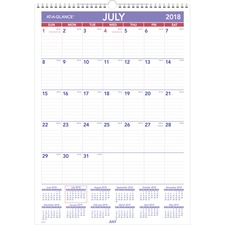 AAGPMA228 - At-A-Glance Academic Monthly Wall Calendar