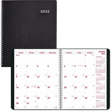 RED CB1200VBLK Rediform Duraflex Dated Monthly Planner REDCB1200VBLK