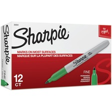 Sharpie Fine Point Permanent Marker - Fine Marker Point - 1 mm Marker Point Size - Green
