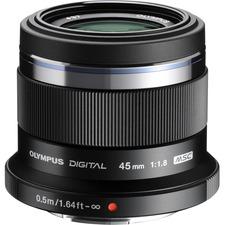 Olympus V311030BU000 M. Zuiko Digital Ed 45MM F/1.8 Lens - Black