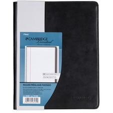 "Hilroy Refillable Notebook Cover - 9 1/2"" x 6 1/16"" Sheet Size - Front, Internal Pocket(s) - Vinyl - Black - 1 Each"