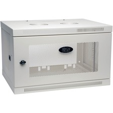 Tripp Lite White SmartRack 6U Wall-Mount Rack Enclosure Cabinet