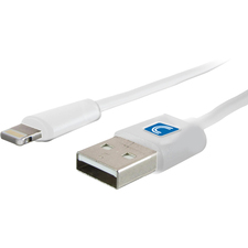 Comprehensive Lightning Male to USB A Male Cable White 6ft