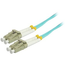 Comprehensive 15M 10Gb LC/LC Duplex 50/125 Multimode Fiber Patch Cable - Aqua