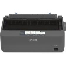 Epson LX-350 9-pin Dot Matrix Printer - Monochrome - 80 Column - 357 cps Mono - USB - Parallel - Serial