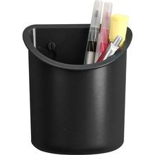 LLR80668 - Lorell Recycled Plastic Mounting Pencil Cup