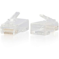 C2G RJ45 Cat6 Modular Plug for Round Solid/Stranded Cable - 50pk