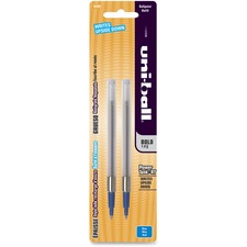Uni-Ball Power Tank RT Ballpoint Refill - 1 mm, Bold Point - Blue Ink - Smear Proof, Smooth Writing, Quick-drying Ink - 2 / Pack