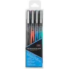 Prismacolor Premier Illustration Markers - Fine Marker Point - Black, Red, Blue, Green - 4 / Pack