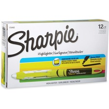 Sharpie Accent Highlighter - Liquid Pen - Micro Marker Point - Chisel Marker Point Style - Yellow Pigment-based Ink