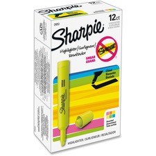 SAN 25053 Sanford Sharpie SmearGuard Tank Style Highlighters SAN25053