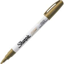 Sharpie Oil-Based Paint Marker - Fine Point - Fine Marker Point - Gold Oil Based Ink