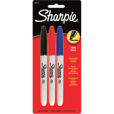 Sharpie Fine Point Permanent Marker - Fine Marker Point - Black, Blue, Red Alcohol Based Ink