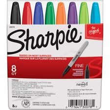 Sharpie Fine Point Permanent Marker - Fine Marker Point - Black, Blue, Brown, Green, Orange, Purple, Red, Yellow Alcohol Based Ink