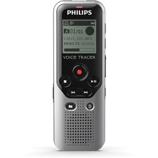 "Philips Voice Tracer DVT1200 4GB Digital Voice Recorder - 4 GB Flash Memory - 1.3"" LCD - Headphone - 270 HourspeaceRecording Time - Portable"