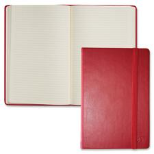 """Quo Vadis Habana Notebook, 8-1/4""""x11-3/4"""" , 80 Shts, Red - 80 Sheets - Sewn - 85 g/m² Grammage - 8 17/64"""" x 11 11/16"""" , 8 1/4"""" x 11 3/4"""" - Ivory Paper - Red Cover - Leather Cover - Non-skid, Resist Bleed-through, Flexible, Storage Pocket, Ribbon Marker, Elastic Closure - 1Each"""