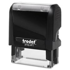 "Trodat Original Printy - Custom Message Stamp - 0.55"" (14 mm) Impression Width x 1.50"" (38 mm) Impression Length - Black - Plastic - 1 Each"