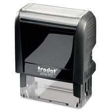 "Trodat Original Printy - Custom Message Stamp - 0.71"" (18 mm) Impression Width x 1.85"" (47 mm) Impression Length - Black - Plastic - 1 Each"
