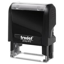 "Trodat Original Printy - Custom Message Stamp - 0.87"" (22 mm) Impression Width x 2.28"" (58 mm) Impression Length - Black - Plastic - 1 Each"