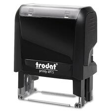 "Trodat Original Printy - Custom Message Stamp - 0.98"" (25 mm) Impression Width x 2.76"" (70 mm) Impression Length - Black - 1 Each"