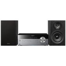 Sony CMTSBT100 Micro Hi-Fi System - 50 W RMS - iPod Supported - Silver