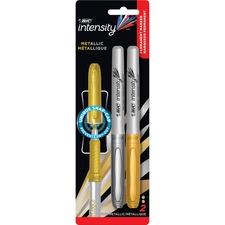 BIC GMPMP21AST Bic Mark-it Fine Point Permanent Metallic Markers BICGMPMP21AST
