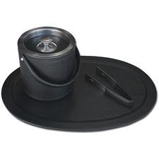 DACD1049 - Dacasso Black Leather 3-Piece Ice Bucket Set