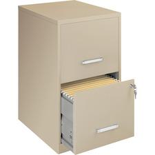 "LLR 14340 Lorell Lorell SOHO 18"" 2-drawer File Cabinets LLR14340"