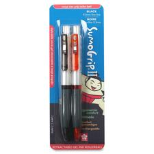 Sakura of America SumoGrip II Pen - 2 Pack Carded - Black Ink - Black, Orange Barrel - 2 / Pack