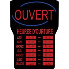 """Royal Sovereign LED Open with Business Hours Sign French - Open, Business Hour Print/Message - 16"""" (406.40 mm) Width x 24"""" (609.60 mm) Height - Rectangular Shape - Red Print/Message Color - Blue"""