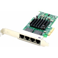 AddOn Intel E1G44HT Comparable 10/100/1000Mbs Quad Open RJ-45 Port 100m PCIe x4 Network Interface Card